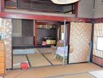 2階のゆったり和室の大広間八畳二間と板間十畳(居間)