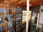 専用の工具備品置き部屋(内装)