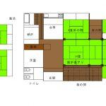【売家 糸魚川市田中地区】井沢バス停、S51年改築部と築百年以上の古民家共存 売家10006