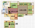 ユッタリ空間の間取りで水回りはリフォームしてあり、2階の2部屋は客間としても有効です(間取)